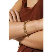 Karen Millen Plated Diamante Link Bracelet -, Gold