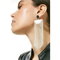 Karen Millen Tassel Drop Earrings -, Silver