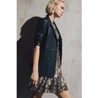 Karen Millen Leather Military Sb Jacket -, Black