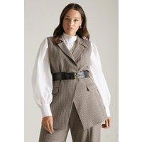 Karen Millen Lydia Millen Curve Sleeveless Jacket, Multi