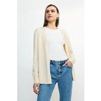 Karen Millen Soft Yarn Knit Cardigan -, Cream