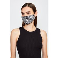 Karen Millen Fashion Printed Face Mask, Zebra