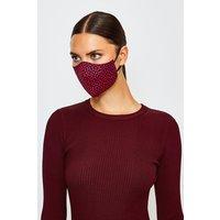 Karen Millen Reuseable Fashion Printed Face Mask, Red