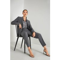 Karen Millen Polished Stretch Wool Blend Jacket, Pale Grey