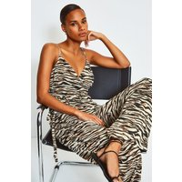 Karen Millen Animal Print Strappy Jumpsuit, Zebra