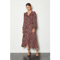 Karen Millen Pleated Leopard Print Dress, Multi