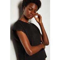 Karen Millen Lace Sleeve Top, Black