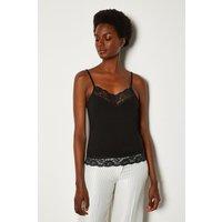 Karen Millen Lace Trim Vest, Black