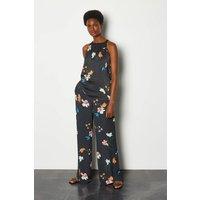 Karen Millen Colourpop Floral Palazzo trousers, Blue