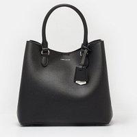 Faux Leather Mini Bucket Bag Black, Black