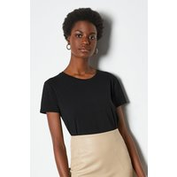Relaxed Fit Short Sleeve T-Shirt Black, Black