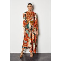 70's Floral Tiered Dress Multi, Multi