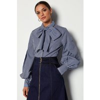 Bow Front Blouse Navy, Navy