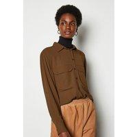 Long Sleeve Utility Shirt Orange, Orange