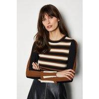 Bold Stripe Knit Jumper Ivory, Ivory