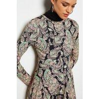 Karen Millen Paisley Printed Mini Flared Dress, Multi