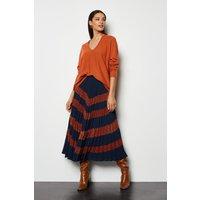 Lace Applique Pleated Skirt Multi, Multi