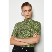 Leopard Print Tshirt Green, Green