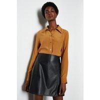 Leather Mini Skirt Black, Black