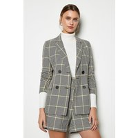 Relaxed Check Jacket Yellow, Yellow