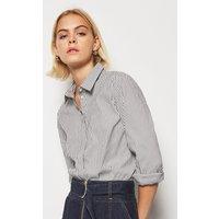 Sharp Essential Stripe Shirt Blackwhite, Blackwhite