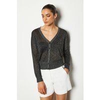 Fine Gauge Cardigan Grey, Grey