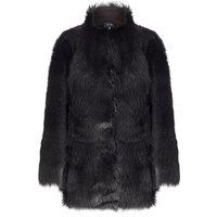 Toscana Sheepskin Coat Black, Black