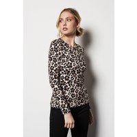 Floral Leopard Jersey Top Multi, Multi