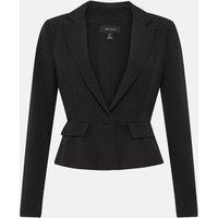 Karen Millen Tailored Crop Peplum Blazer, Black
