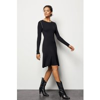 Chain-Detail Knit Dress Black, Black