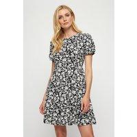 Mono Floral Organic T-Shirt Dress