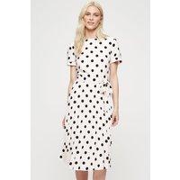 Women's Occasion Spot Pleated Midi Dress - pale pink - 14