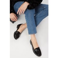 Wide Fit Black Livia Cleated Sole Loafer