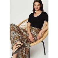 Animal Print Tiered Midaxi Skirt