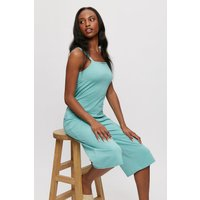 Sage Green Strappy Culotte Jumpsuit