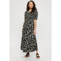 Daisy Shirred Midaxi Dress