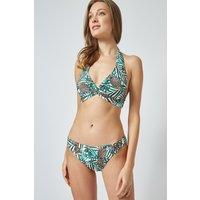 Women's Pineapple Print Low Rise Bikini Bottoms - white - 10