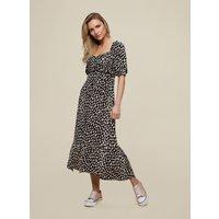 Black Leopard Print Crinkle Dress. Wearing Length Is Approximately 120Cm. 100% Viscose. Machine Wash