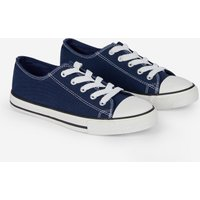 Navy Icon Canvas Trainers