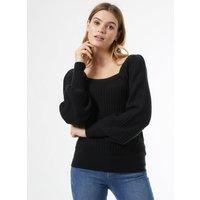 Women's Tall Black Knitted Jumper - 16