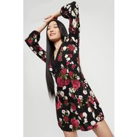 Petite Rose Floral Lace Trim Dress