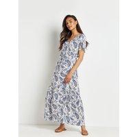 Petite Paisley Tiered Maxi Dress