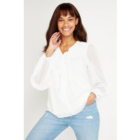 Ivory Frill Front Blouse