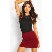 Bodycon Mini Skirt - berry