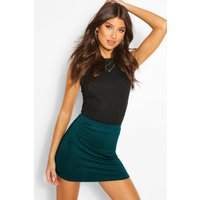Bodycon Mini Skirt - bottle green