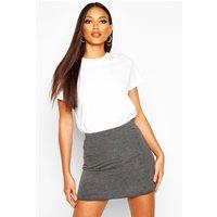 Bodycon Mini Skirt - charcoal