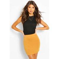 Womens Basic Jersey Mini Skirt - Yellow - 10, Yellow