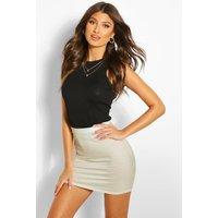 Bodycon Mini Skirt - sand