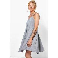 Strappy Swing Dress - grey marl