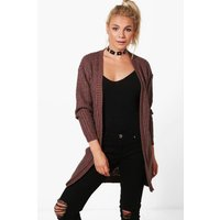 Long Edge To Edge Grungy Cardigan - mink